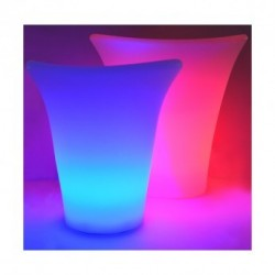 Seau à glace petit LED RGB Rechargeable avec télécommande