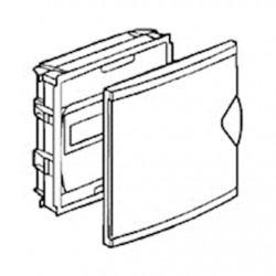 Coffret mini encastré - porte isolante blanc RAL9010 - 1 rang - 6+2 modules